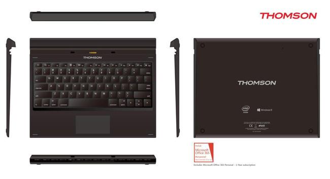 thomson thbk1 une tablette 2 en 1 sous windows ere num rique. Black Bedroom Furniture Sets. Home Design Ideas