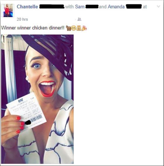 Selfie ticket gagnant