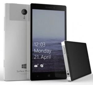 Concept pour le Surface Phone