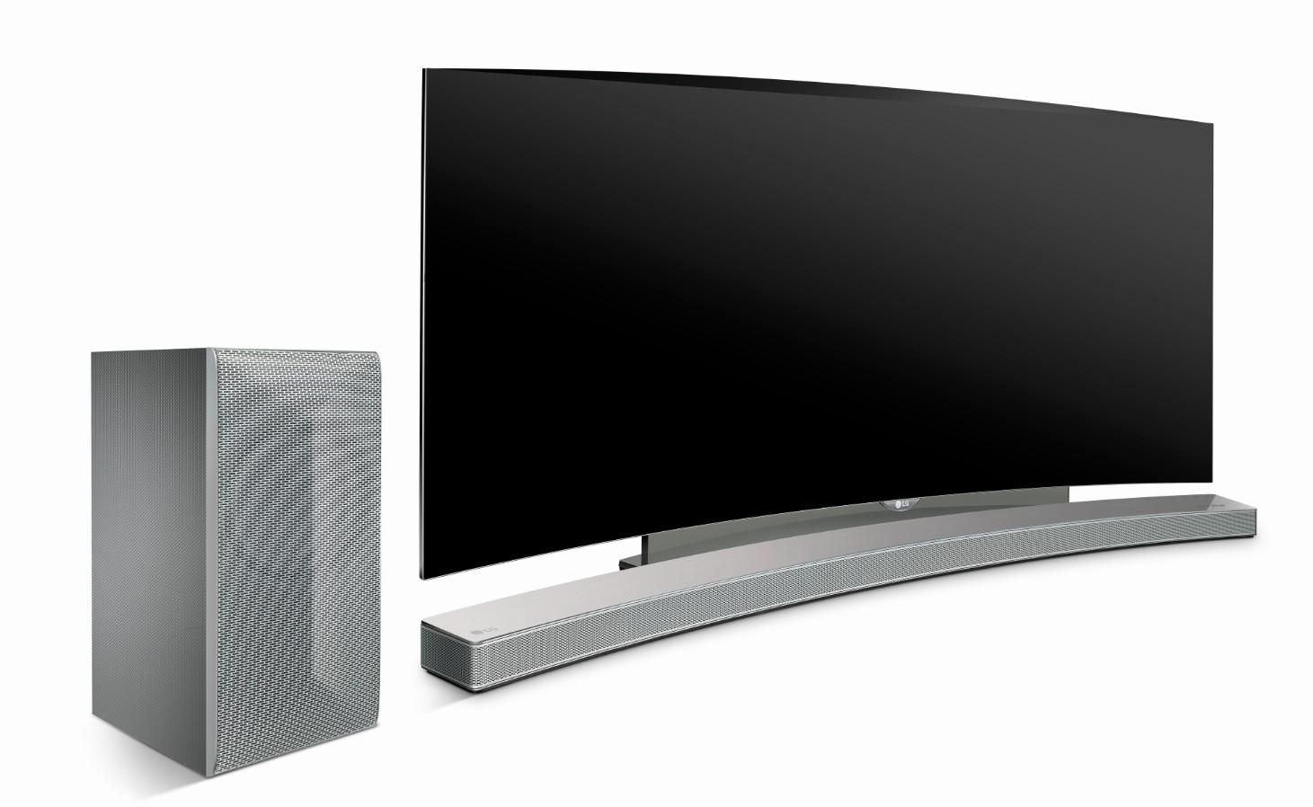 test lg las855m hs8 une barre audio incurv e qui a du. Black Bedroom Furniture Sets. Home Design Ideas