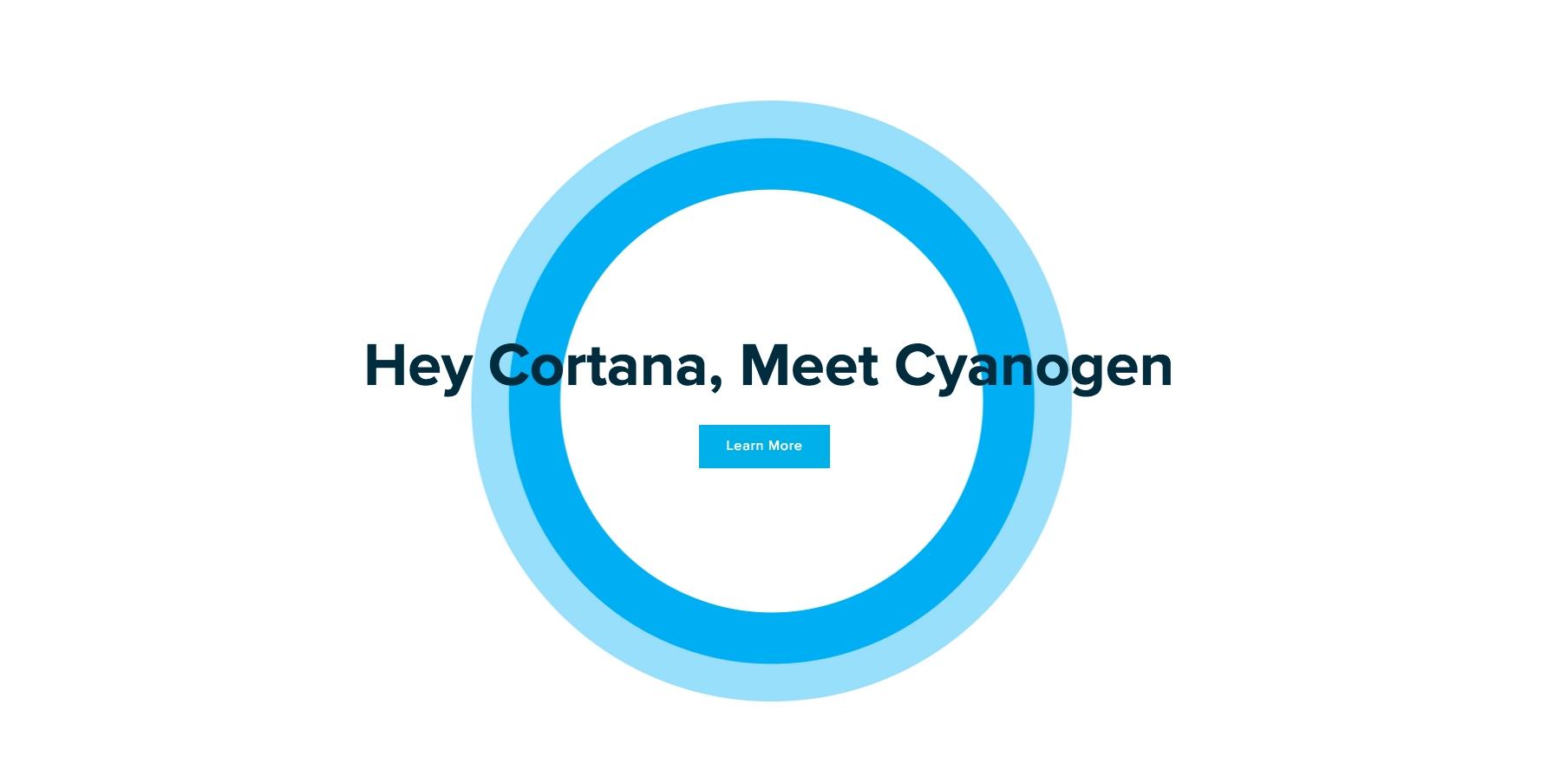 cortana cyanogen