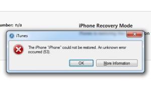 erreur 53 iphone