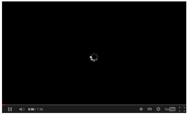 vidéo youtube qui se charge