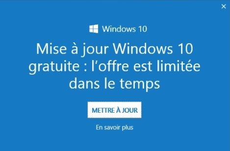 windows 10 publicité