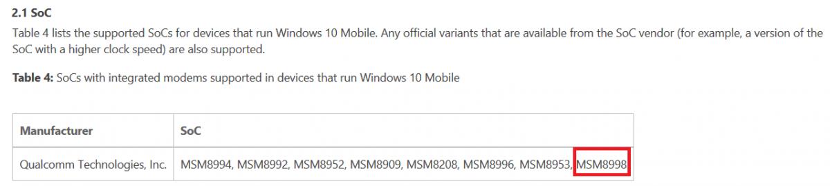 windows 10 mobile soc s830 1200x269 - Deux détails sur le Surface Phone