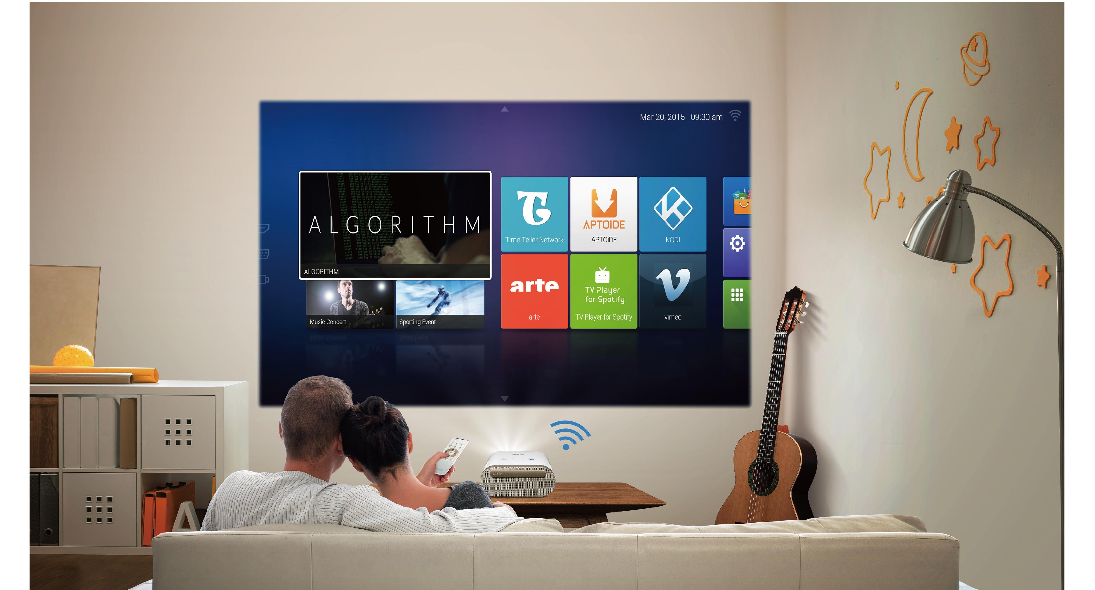 benq annonce un vid oprojecteur sous android ere num rique. Black Bedroom Furniture Sets. Home Design Ideas