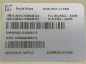 FCC OnePlus 3
