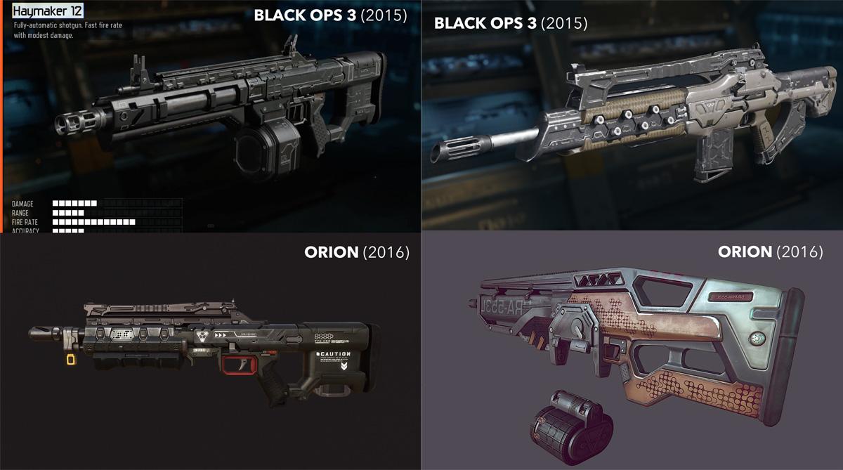 armes guardians of orion