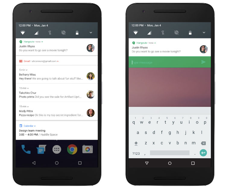 android nougat notifications