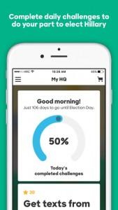 screen hillary 2016 2 169x300 - Hillary Clinton a développé un jeu mobile pour sa campagne