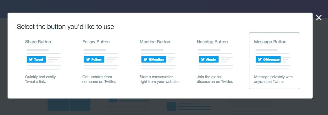 bouton twitter 02 - Un nouveau bouton Twitter pour des messages directs
