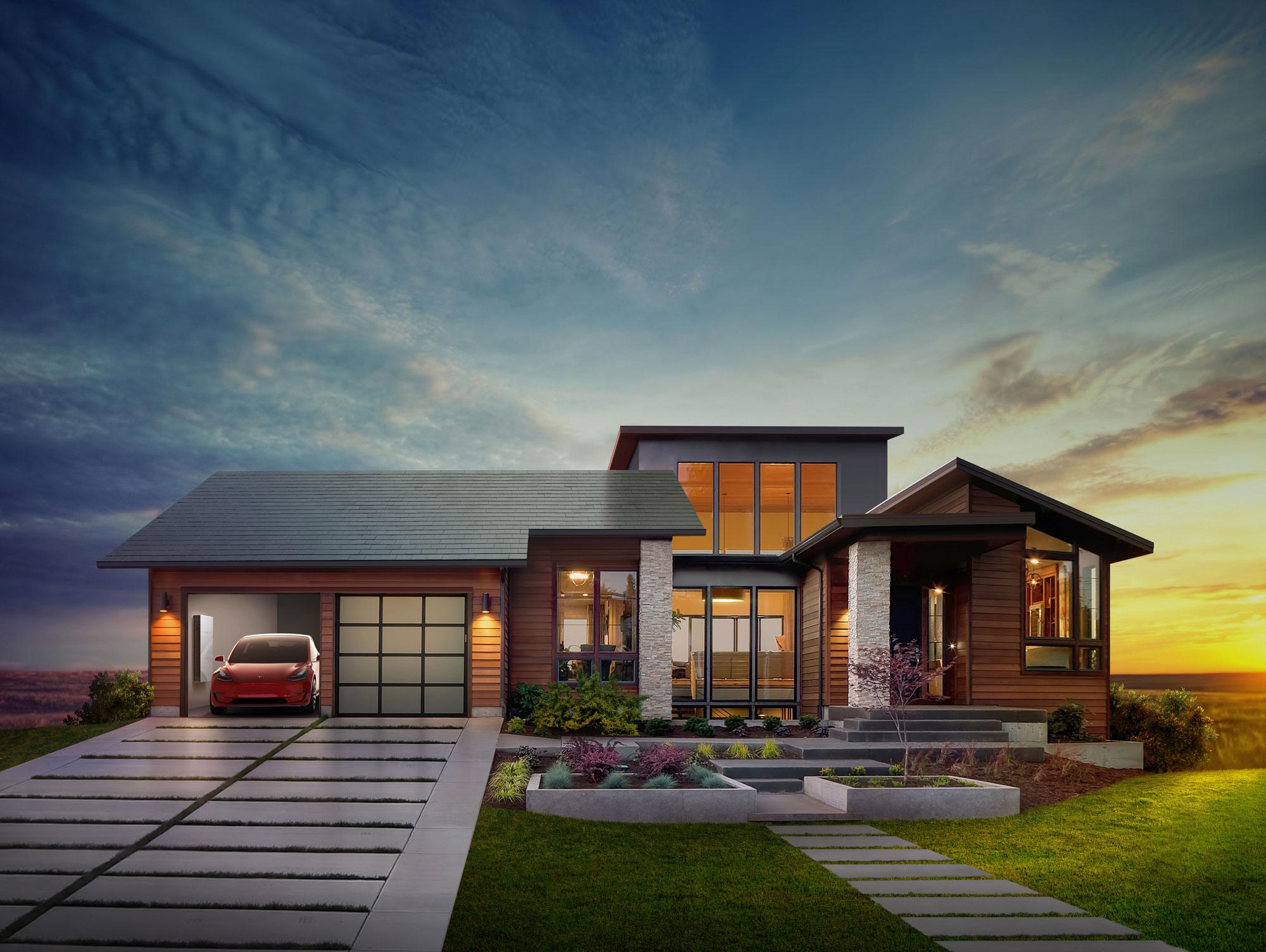 tesla et solarcity r inventent le toit solaire ere num rique. Black Bedroom Furniture Sets. Home Design Ideas