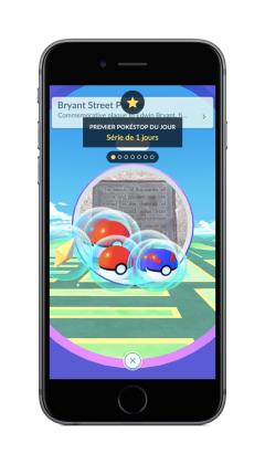 First PokeStop FR 240x420 - Pokémon Go va intégrer des bonus quotidiens