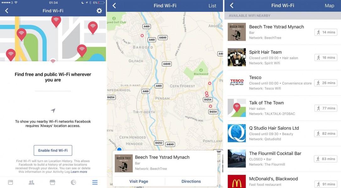 Facebook gélocalisation