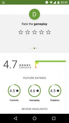 notation jeu play store 04 236x420 - La notation des jeux sur le Play Store évolue