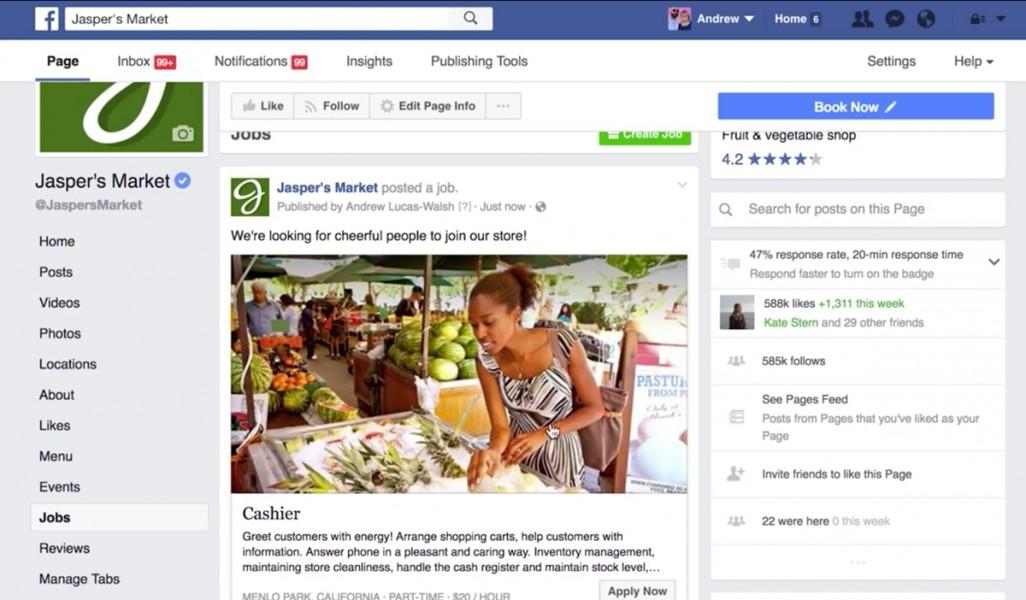 facebook emploi