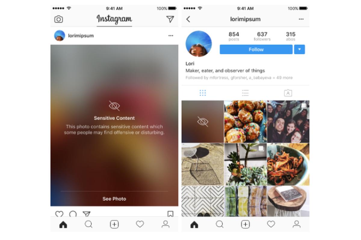 Du flou et de la double authentification — Instagram