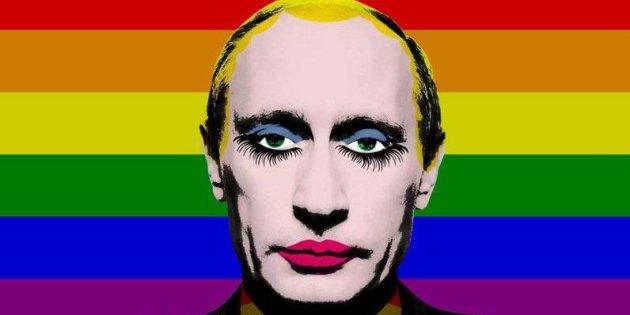 Caricature queer Poutine