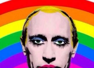 Caricature queer Vladimir Poutine