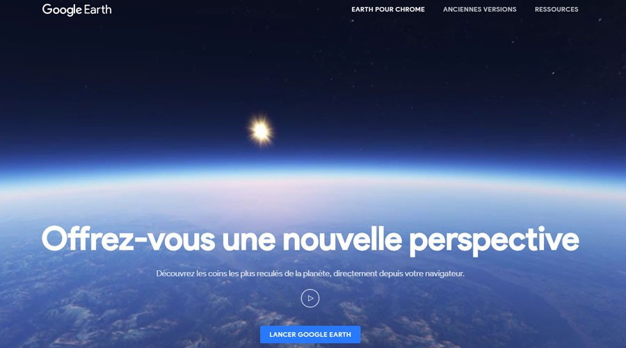 Google Earth nouvelle interface
