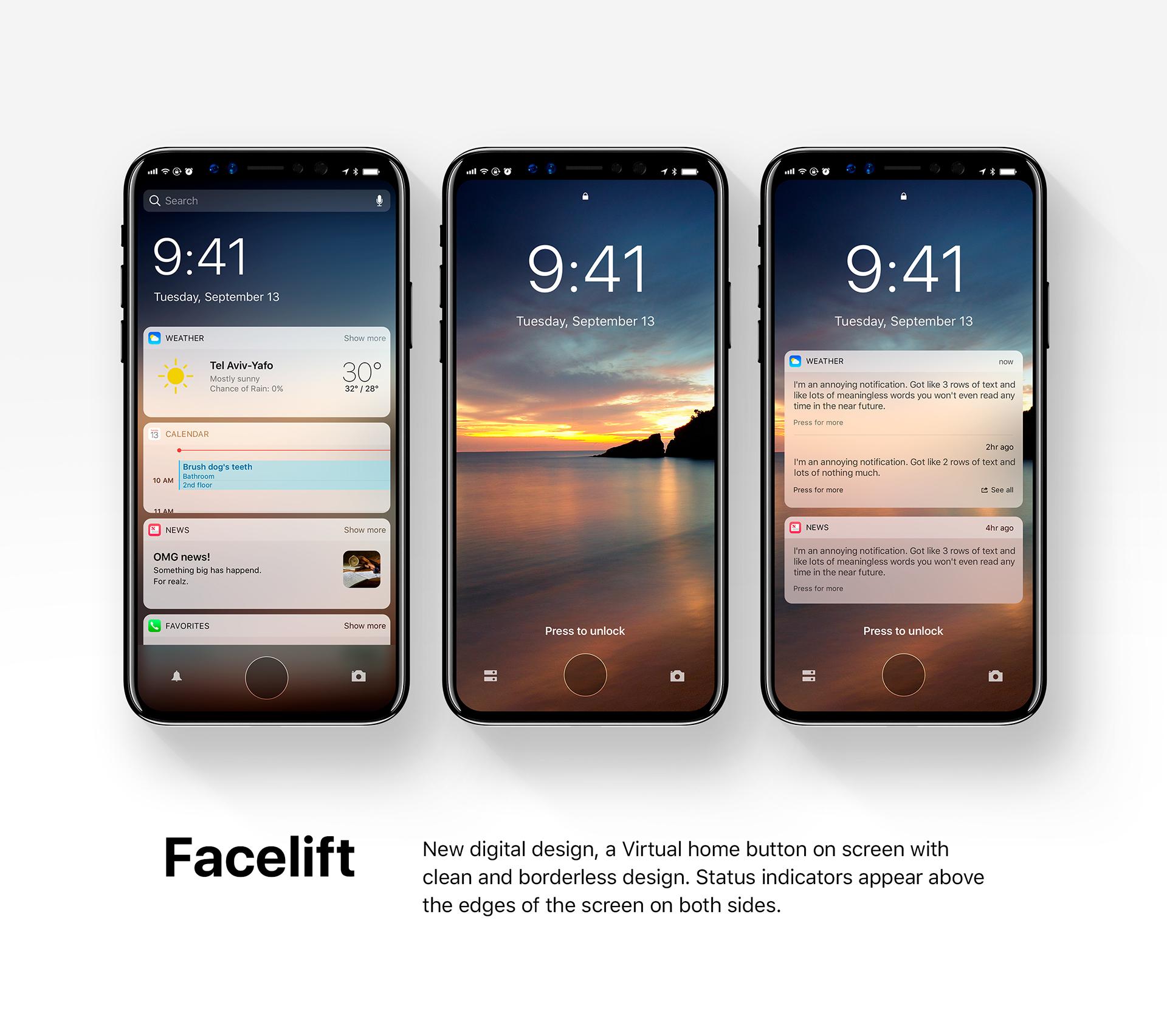 iOS 12 concept Facelift