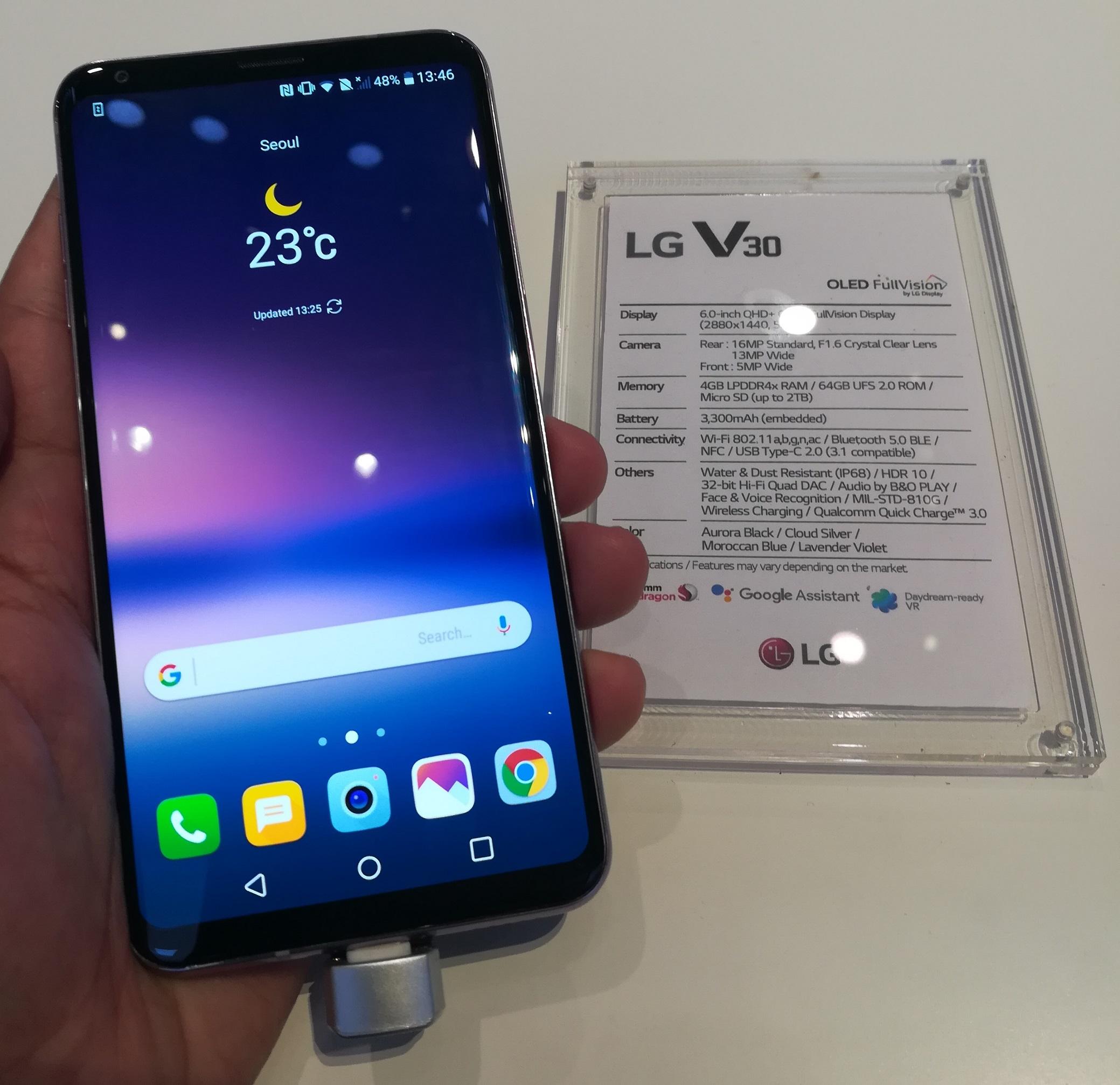 LG V30 prise en main IFA 2017
