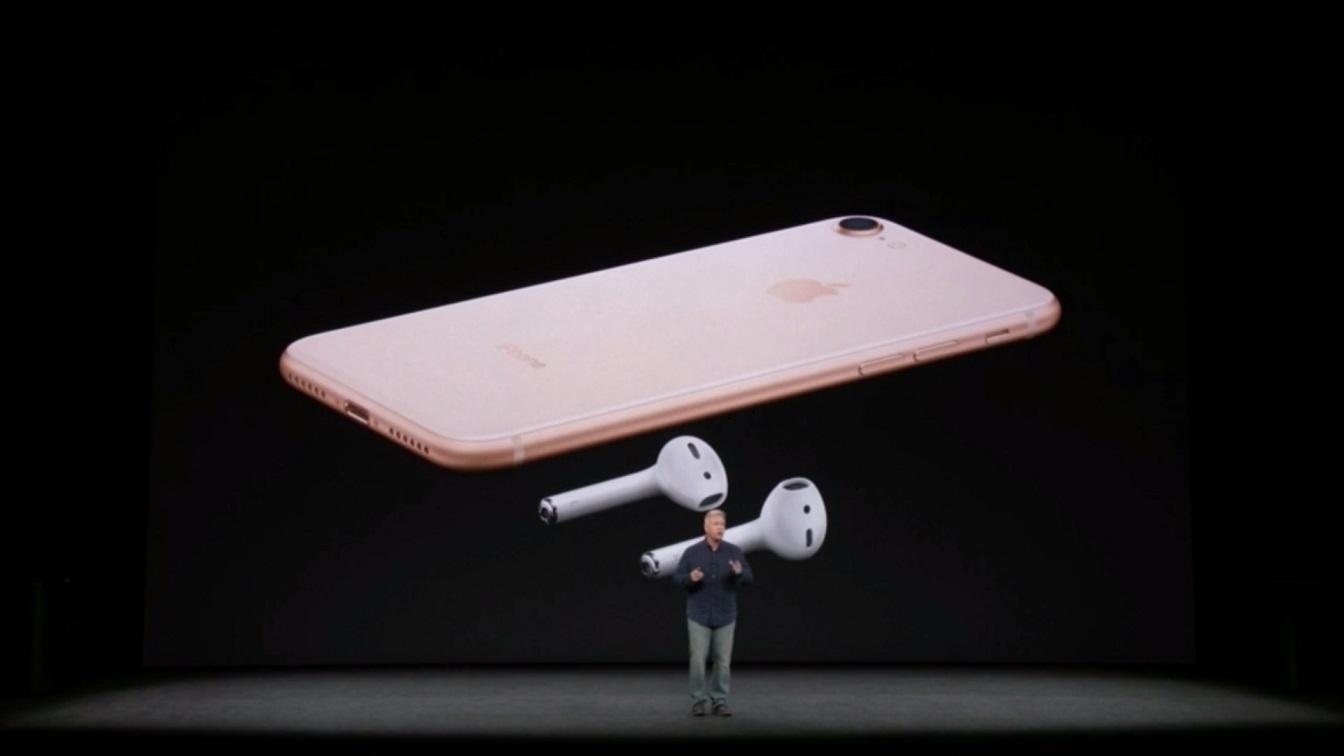 iPhone 8 et AirPods