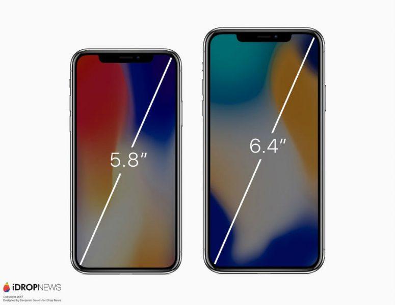 iPhone X vs iPhone X Plus concept