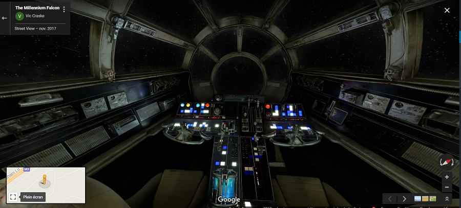 Faucon Millenium Star Wars Disney Google Maps