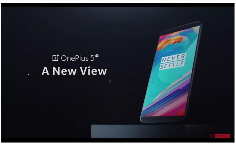 OnePlus 5T présentation officielle smartphone OnePlus
