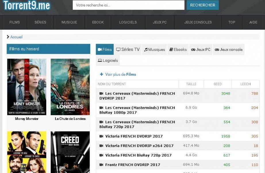 Torrent9 Téléchargement BitTorrent YggTorrent