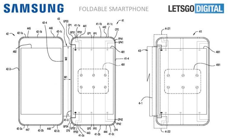 Samsung Galaxy X smartphone pliable