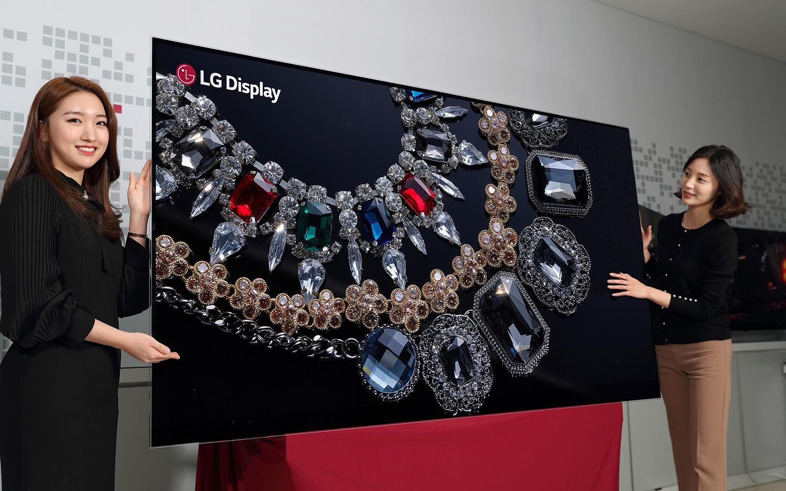 Avant le CES, LG présente un écran OLED 8K de 88 pouces