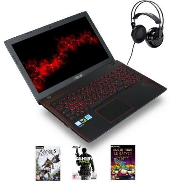 PC portable Asus + casque + 3 jeux