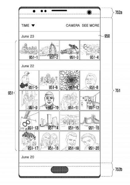 Samsung brevet 424x600 - Samsung veut faire des trous plutôt qu'une encoche comme sur l'iPhone X