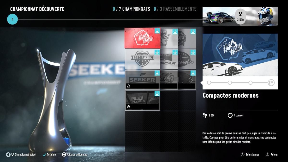 Forza Motorsport 7 - les championnats