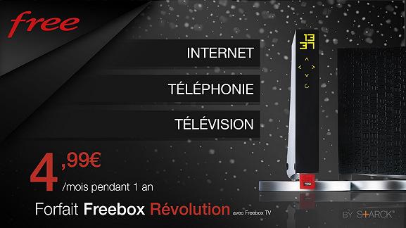 L'offre à 4.99 euros sur la Freebox Revolution est prolongée jusqu'au 23 février !