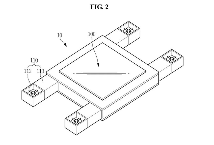 Samsung fait breveter un drone avec écran autonome contrôlé par les yeux