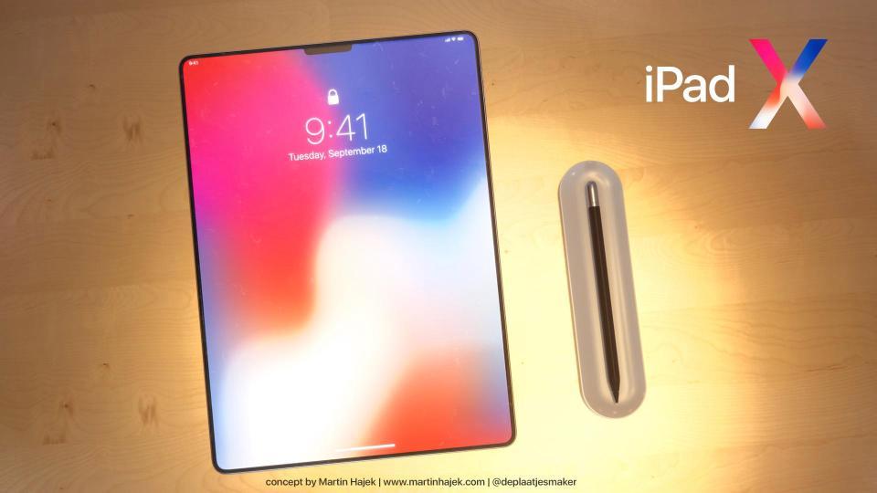 iPad : vers une tablette à encoche façon iPhone X ?