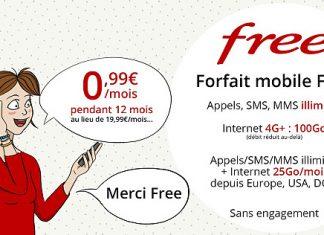 Free Mobile : profitez du forfait 100 Go à 0,99 euros sur Vente Privée