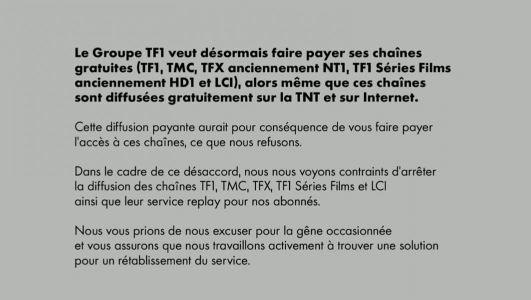 canal tf1 2 1063x600 - Canal+ ne diffuse plus les chaînes du Groupe TF1