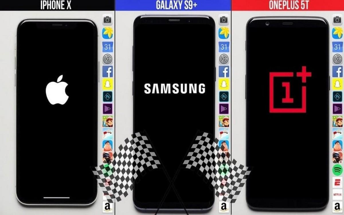 L' iPhone X, moins performant que le Galaxy S9+ et le OnePlus 5T ?