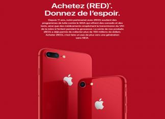 iPhone 8 Red : le joli smartphone rouge d'Apple pour lutter contre le SIDA
