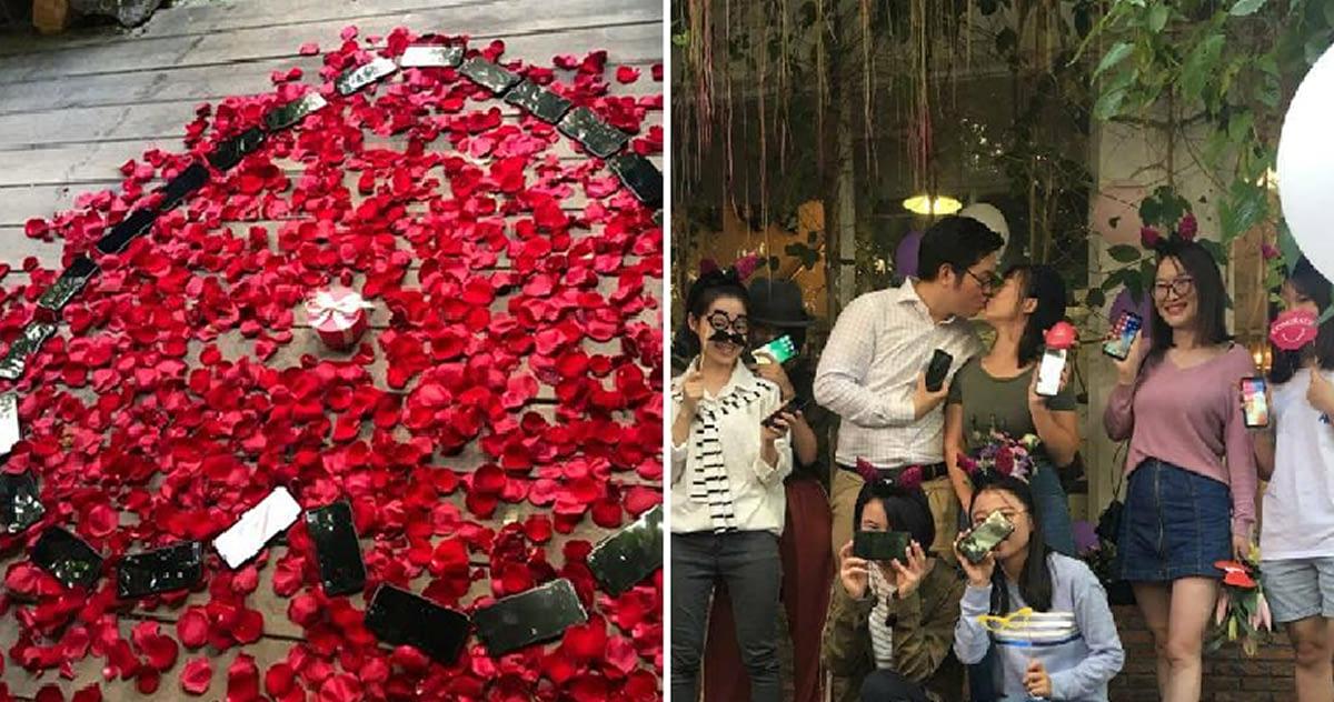 Il demande sa compagne en mariage avec 25 iPhone X