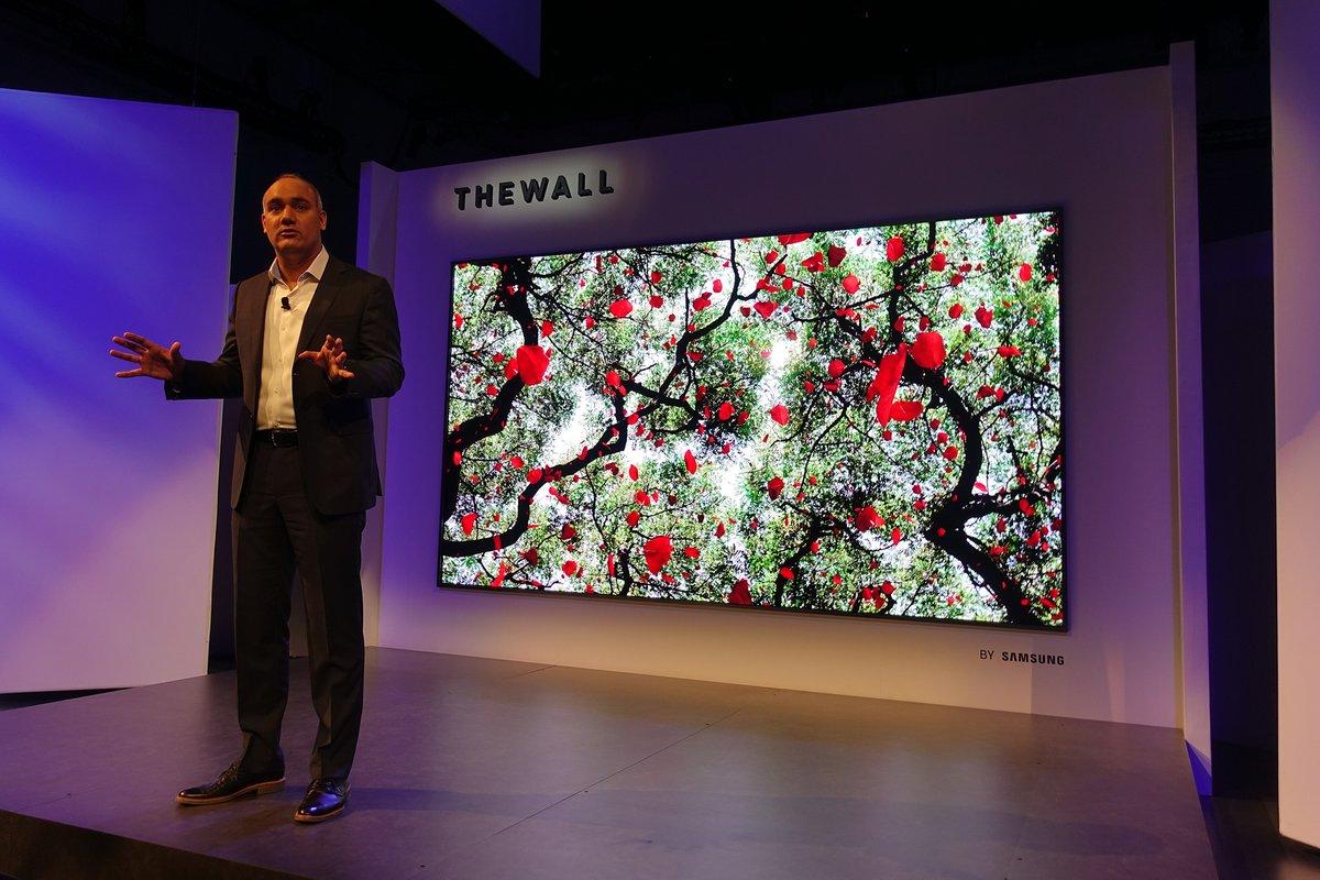 La première TV MicroLed du monde débarque en 2018 et elle est signée Samsung !