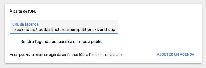 Agenda coupe du monde 02 - Google Agenda vous aide pour la Coupe du Monde de football
