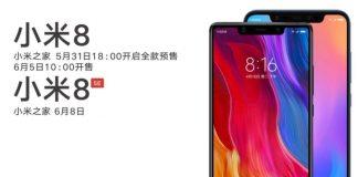 Xiaomi Mi 8 et Mi 8 SE Slashleaks
