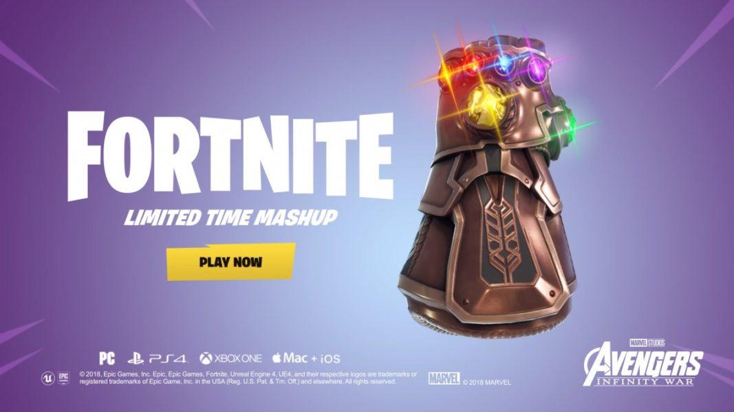 Fortnite en crossover avec Avengers : Infinite War
