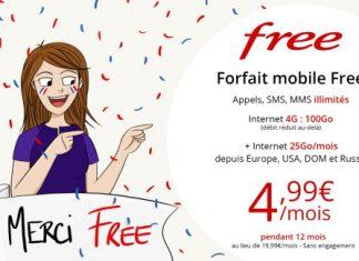 Forfait Free Mobile en promotion
