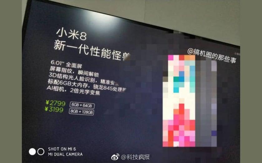 Le Xiaomi Mi 8, clone Android de l'iPhone X, serait à moins de 400 euros